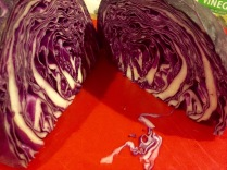 Red cabbage is so pretty, isn't it?